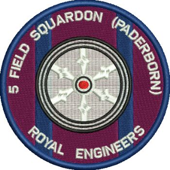 5 Fd Sqn Padderborn Embroidered badge